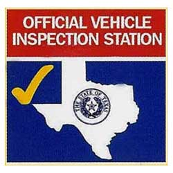 Official Texas state inspection badge