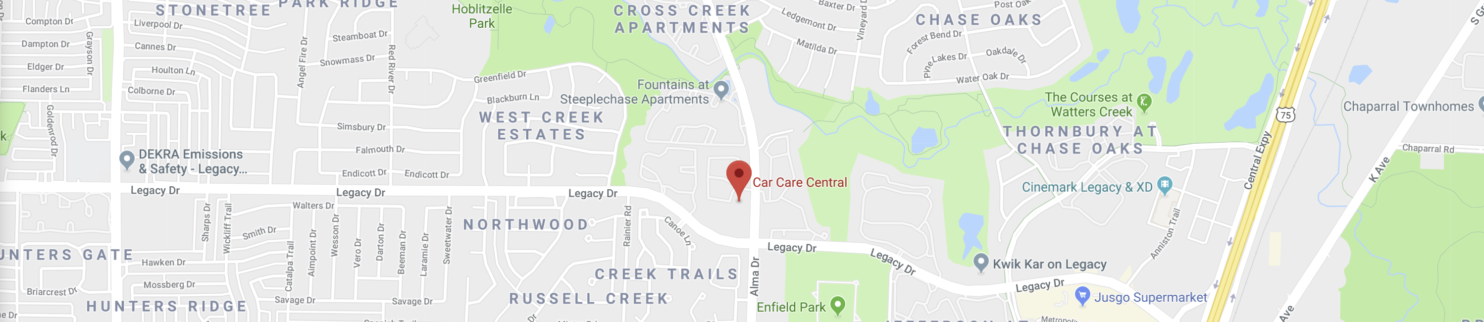 Car Care Central | Plano, TX Page Banner